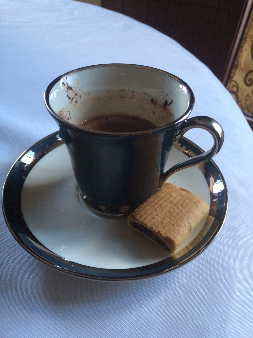 Heaven is French hot chocolate and fig newtons