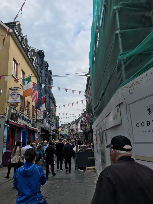 Pedestrian streets about town.