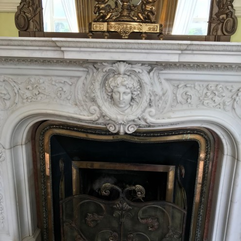 Stunning. Wish this was MY marble fireplace...